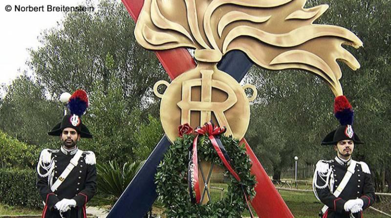 Monumento in memoria del Brigadiere dei Carabinieri Gaetano Miscia